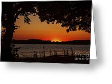 Oxford Sunset Greeting Card