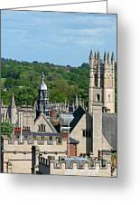 Oxford Tower View Greeting Card