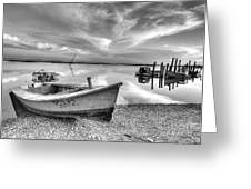 Oyster Boat Ap3392 Greeting Card