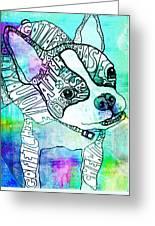 Ozzy Boy Blues Greeting Card by Robin Mead