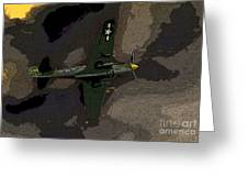 P 40 Warhawk In Action Greeting Card