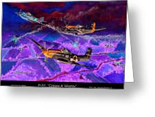 P-51 Cripes A Greeting Card