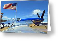 P-51 Hell - Er - Bust Greeting Card