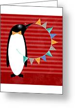 P Is For Penguin Greeting Card