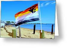 P Town Bear Flag Greeting Card
