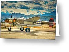 P38 Fly In Greeting Card