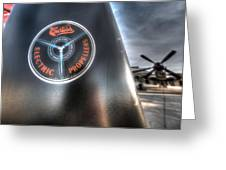 P40 Prop With A P51 Mustang Greeting Card