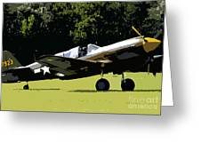 P40 Take Off Greeting Card