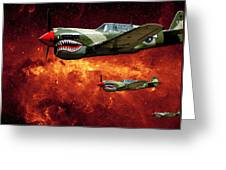 P40s A Long Ways From Home Greeting Card