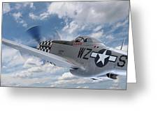 P51 In The Clouds Greeting Card