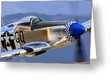 P51d Mustang At Salinas Greeting Card