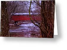 Pa Covered Bridge Greeting Card