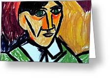 Pablo Picasso 1907 Self-portrait Remake Greeting Card