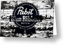 Pabst Blue Ribbon Beer Sign Greeting Card
