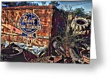 Pabst Blue Ribbon Delievery Truck Greeting Card