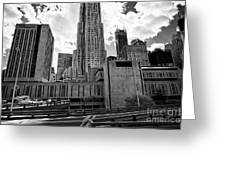 pace university campus New York City USA Greeting Card