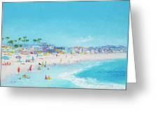 Pacific Beach In San Diego Greeting Card