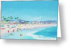 Pacific Beach In San Diego Greeting Card