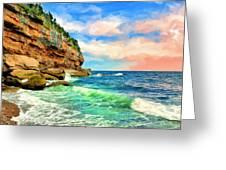 Pacific Coast At Big Sur Greeting Card