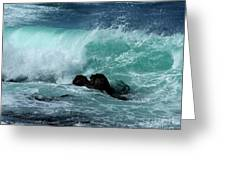 Pacific Coast Crashing Wave Photograph Greeting Card