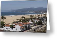 Pacific Coast Highway Along Santa Monica Beach Greeting Card