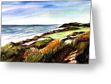 Pacific Dunes Golf Course Greeting Card