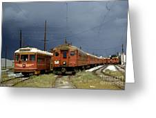 Pacific Electric Trolley, 5115, 316, Long Beach, California Greeting Card