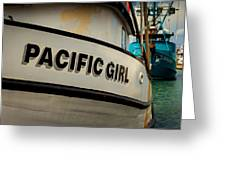 Pacific Girl Greeting Card
