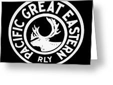 Pacific Great Eastern Greeting Card