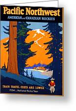 Pacific Northwest, American And Canadian Rockies, National Park Greeting Card