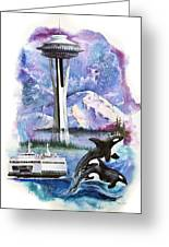 Pacific Northwest Montage  Greeting Card