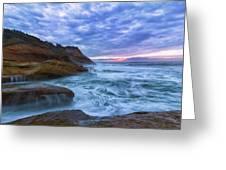 Pacific Ocean At Cape Kiwanda In Oregon Greeting Card