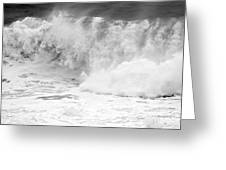 Pacific Ocean Breakers Black And White Greeting Card