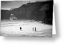Pacific Ocean Scruz Greeting Card