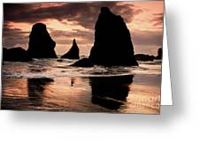 Pacific Pillars Greeting Card