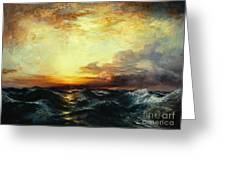 Pacific Sunset Greeting Card by Thomas Moran