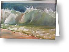 Pacific Wave Greeting Card