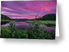 Pack River Sunset Greeting Card