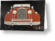 Packard 1937 Red Greeting Card