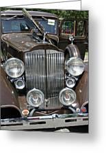 Packard Club Sedan Hood Greeting Card