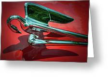 Packard Caribbean Hood Ornament Greeting Card
