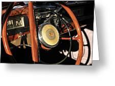 Packard Steering Wheel Greeting Card