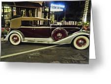 Packard Twelve Sedan Convertible Greeting Card