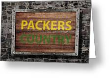 Packers Country Medieval  Greeting Card
