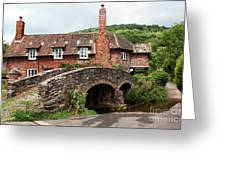 Packhorse Bridge At Allerford Greeting Card