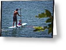 Paddle Board Greeting Card