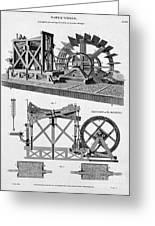 Paddle-driven Beam-engine Suction Pump Greeting Card