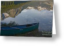 Paddle To The Mountains Greeting Card