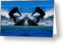 Paddleboarding X 2 Greeting Card