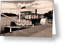 Paddlesteamer Greeting Card